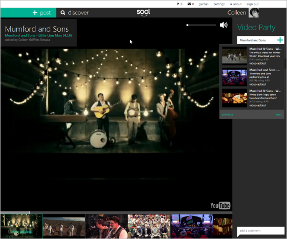 screenshot of video party
