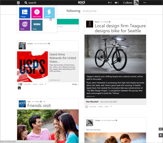 Check out different apps for posting